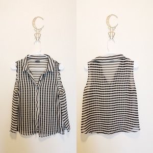 Urban Outfitters Sheer Striped Top
